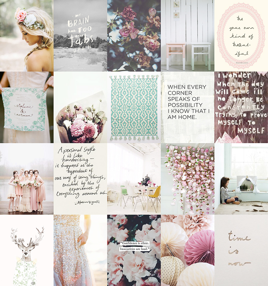 pink inspiration collage blog