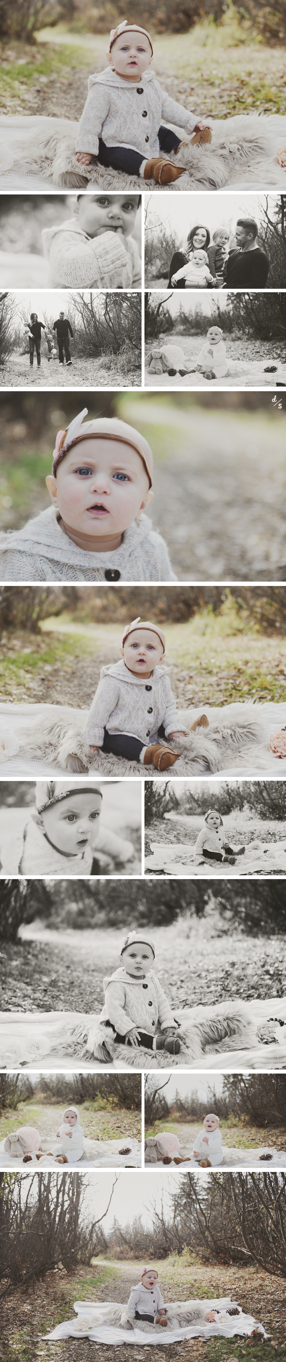 six month baby photography
